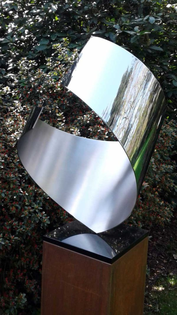 abstract sculpture embracing