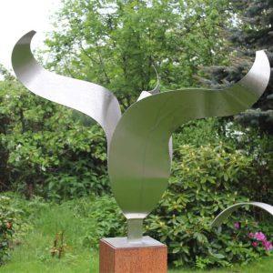Tulp eigentijds RVS sculptuur