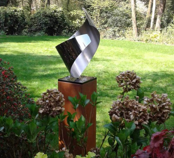 abstract stainless steel garden image symbolizing love