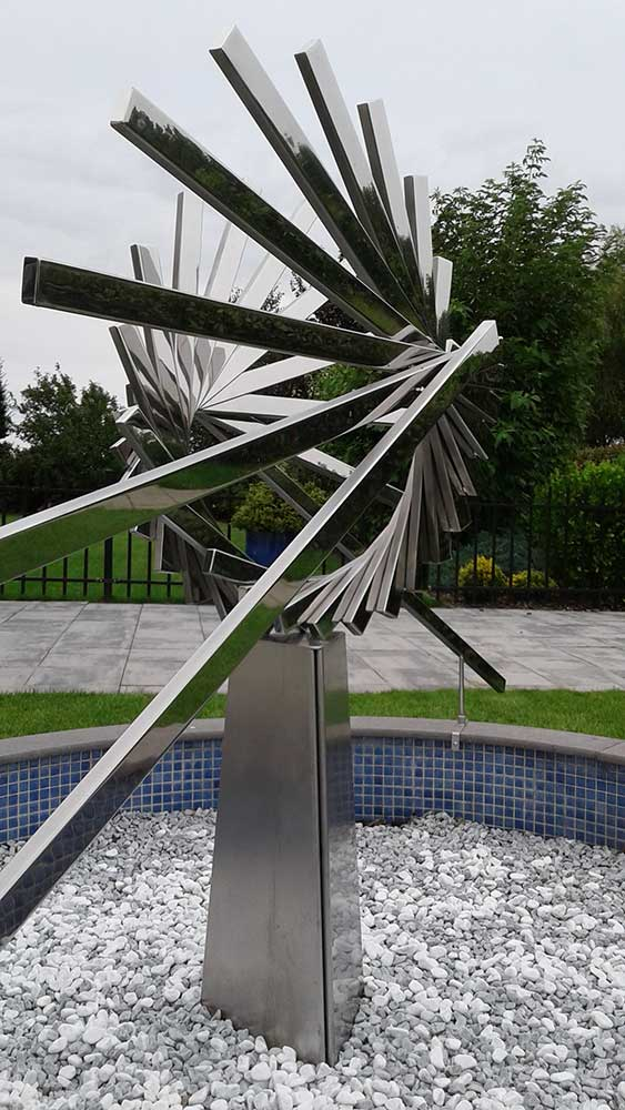 abstract-geometric-stainless steel-artwork-outside