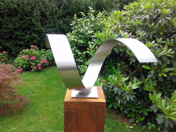 modern stainless steel sculpture