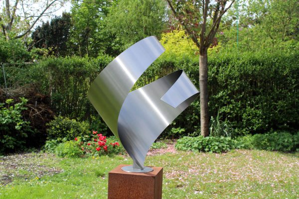side view abstract-stainless steel-image-embrace