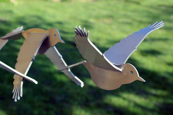 vogelbeeld abstract-rvs-sculptuur-vogels-puttertjes-detail