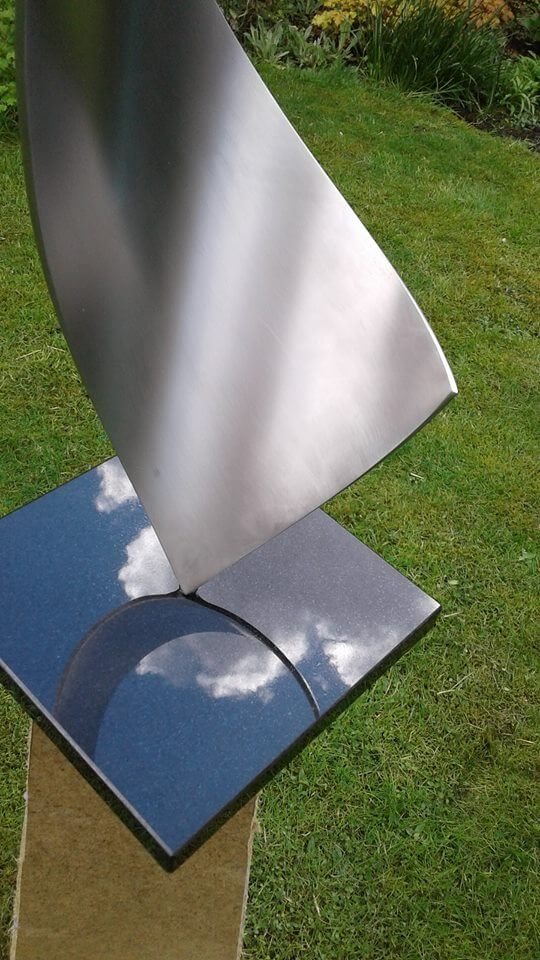 detail abstract artwork of stainless steel