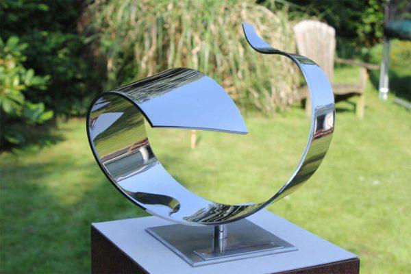 RVS sculptuur Wave - award voor scheepsbouwers