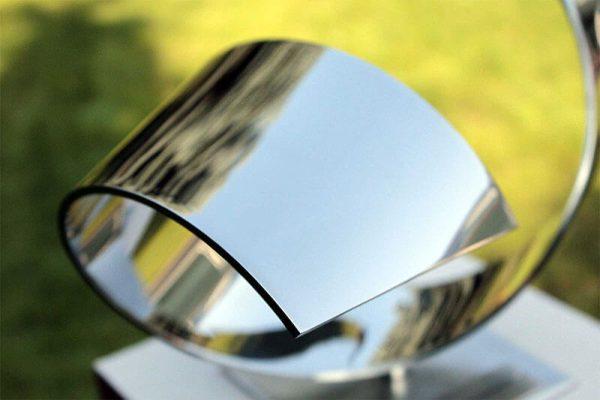 detail stainless steel sculpture