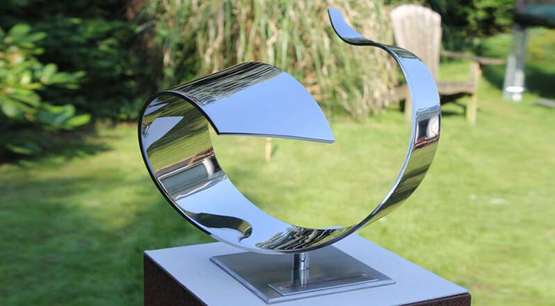 Stainless steel sculpture - Wave - as an award