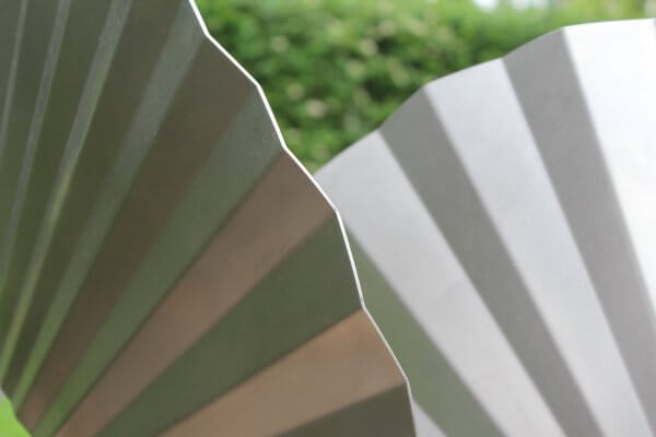 detail stainless steel artwork commissioned wings