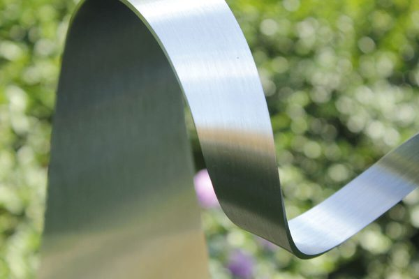 details of abstract stainless steel sculpture-of-heart