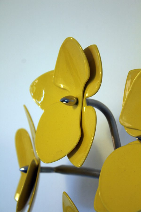 powder coated stainless steel wall sculpture