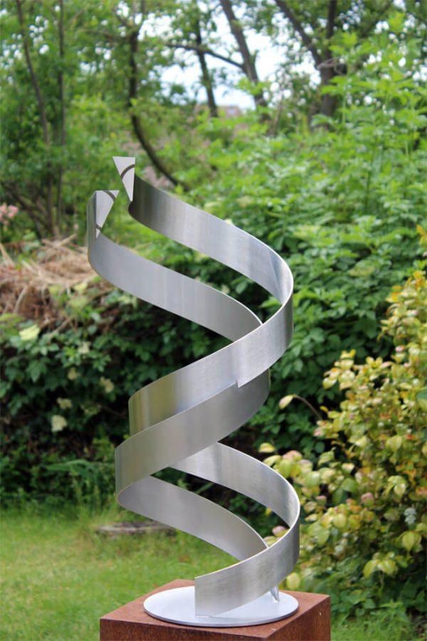 geometrisch abstract RVS kunstwerk