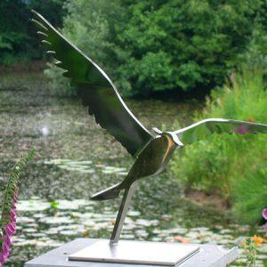 kievit RVS vogelbeeld