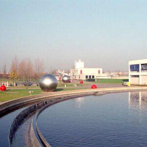 kunst in opdracht waterzuivering in Almere