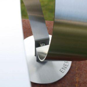 detail kunstopdracht RVS tuinbeeld