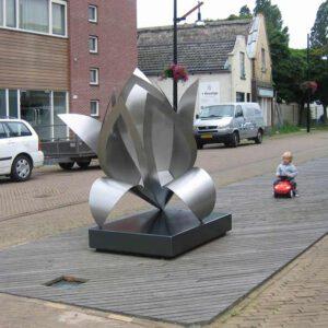 kunstopdracht-rvs-sculptuur openbare ruimte-sliedrecht