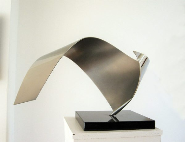 modern-abstract-stainless steel-sculpture-inside
