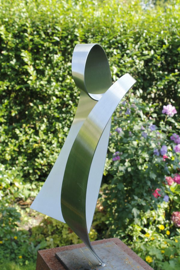 modern abstract stainless steel sculpture-of-heart