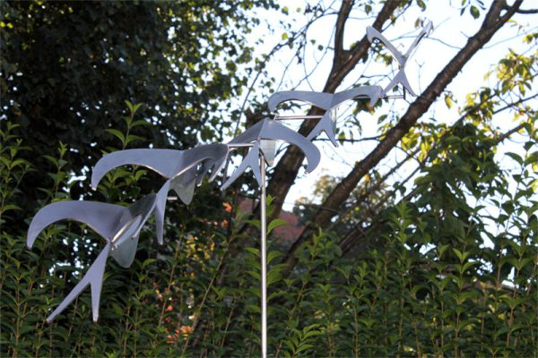 stainless steel garden sculpture - stainless steel artwork-bird's eye view