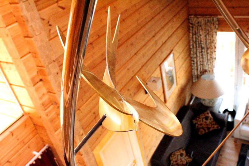 interieur houten huis in Noorwegen